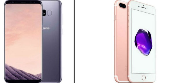 Comparativa Samsung™ Galaxy™ S8 Plus VS iPhone siete Plus