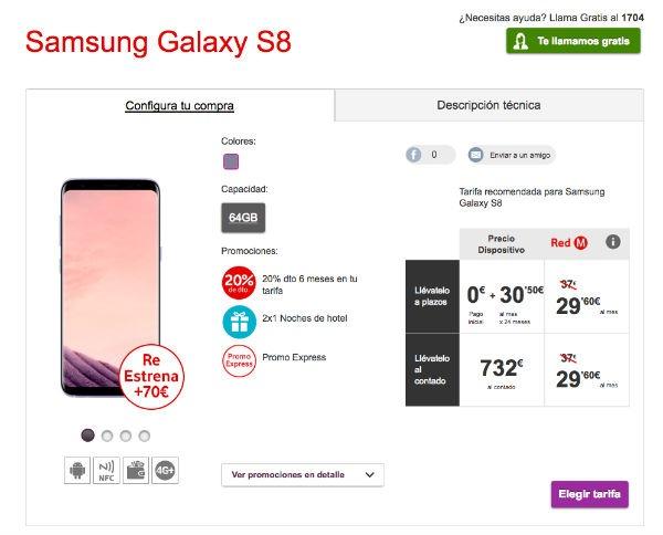 Samsung Galaxy℗ S8 Vodafone