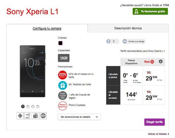 Sony Xperia(móvil) L1 Vodafone