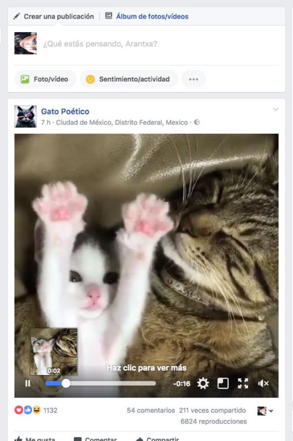 vídeos Facebook