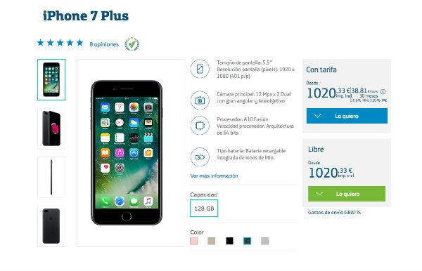 iPhone siete Plus Movistar