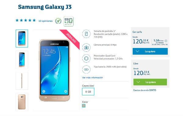 Samsung GAlaxy J3 2016 Movistar