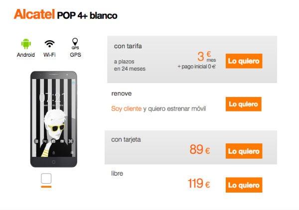 Alcatel Pop 4 Orange