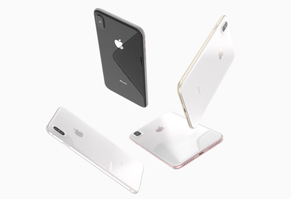 El iPhone 8 se muestra en un cartel publicitario