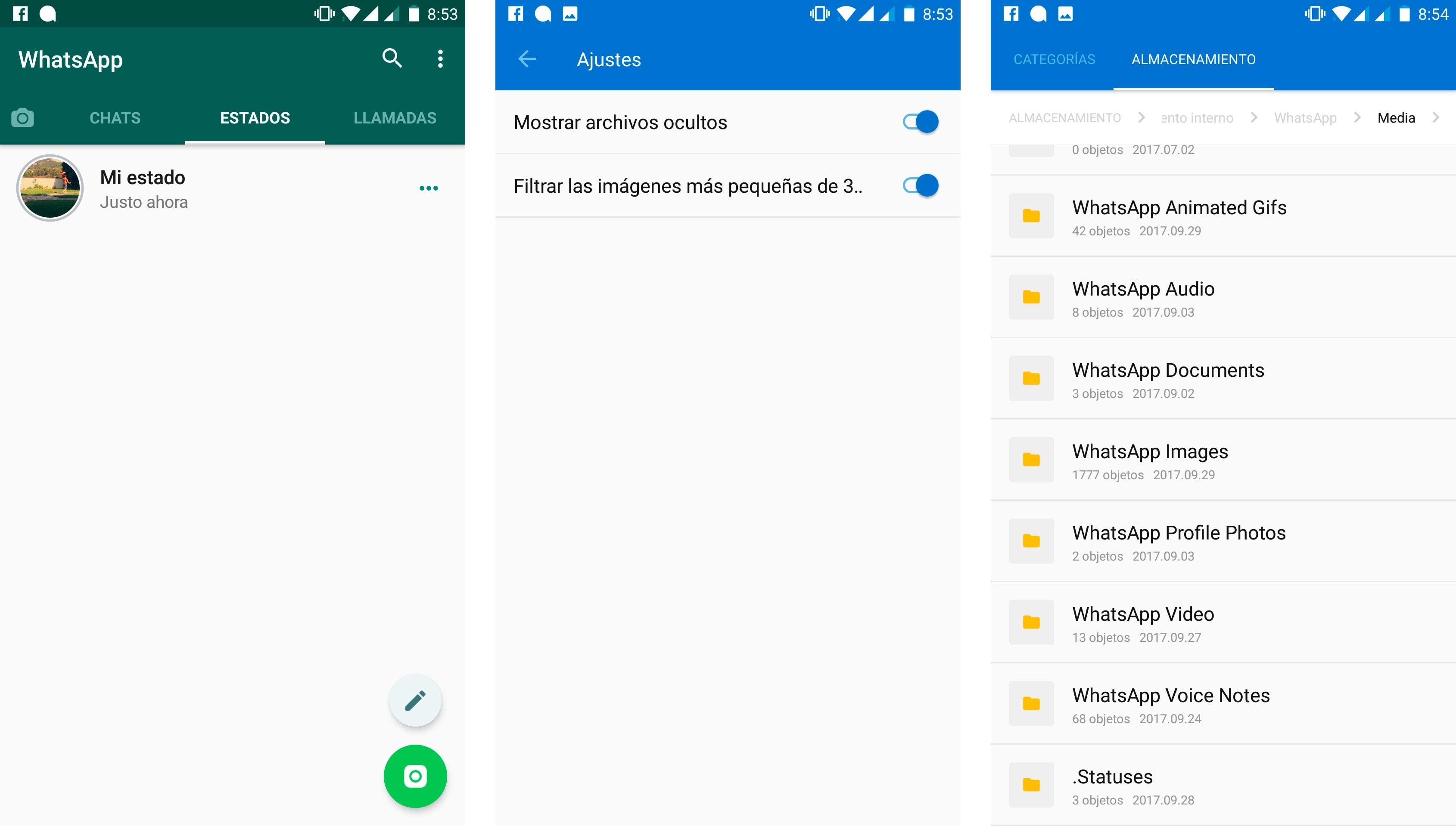 Guardar estados de WhatsApp