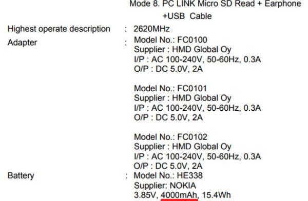 Nokia 2 batería
