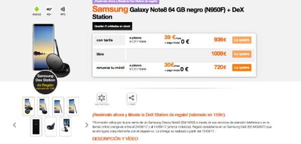 Samsung Galaxy Note 8 Orange