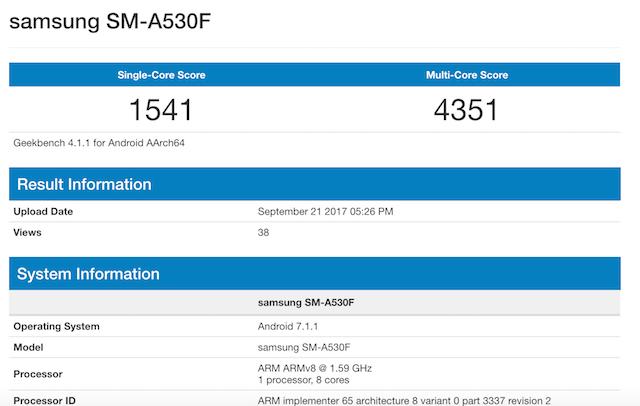 Galaxy A5 de 2018. especificaciones