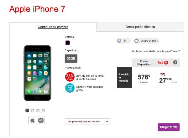 Compra un iPhone siete con Vodafone