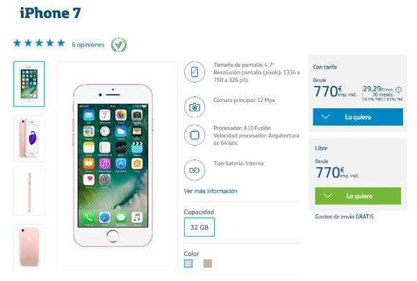iPhone 7 Movistar