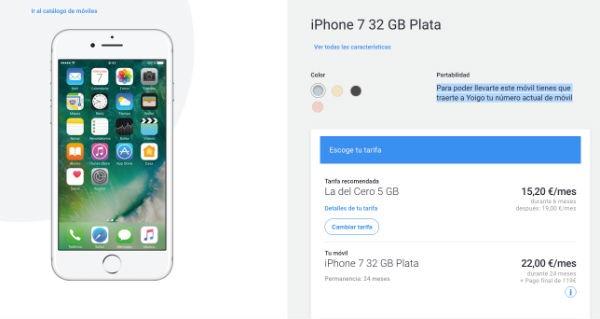iPhone 7 Yoigo