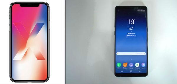 Comparativa iPhone X VS Samsung Galaxy Note 8
