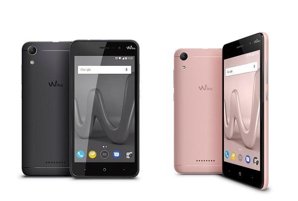 wiko lenny 4 diseño negro y rosa