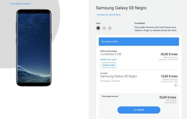 Samsung Galaxy℗ S8 Yoigo
