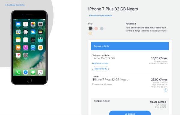 iPhone 7 Plus Yoigo