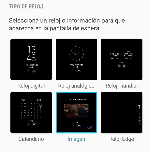 Always On Display en el Samsung Galaxy Note 8