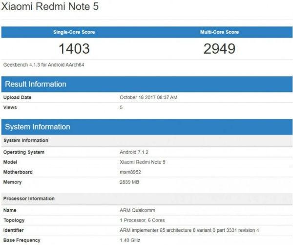 Xiaomi Redmi™ Note cinco boceto