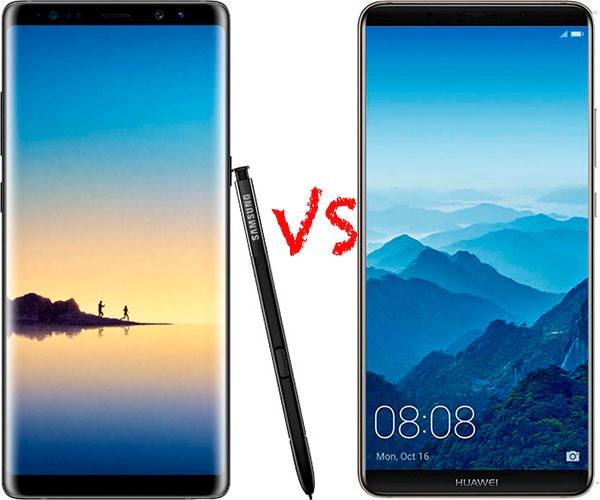 Comparativa Samsung Galaxy Note 8 vs Huawei Mate 10 Pro