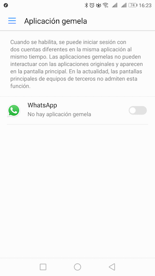 whatsapp aplicacion gemela huawei