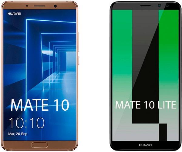 lanzamiento Huawei™ Mate diez Lite vs Mate 10