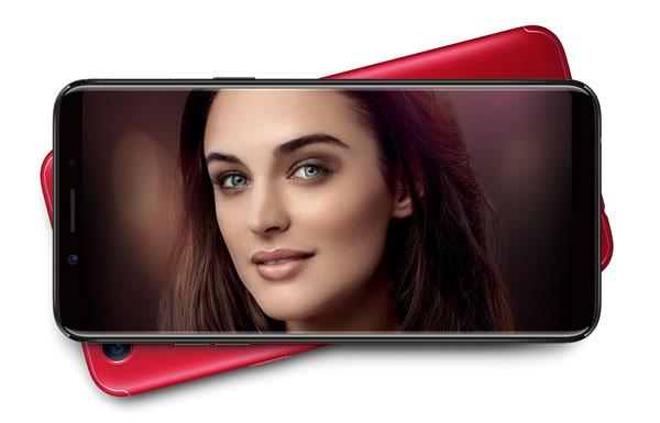 Oppo F5, monitor sin marcos y cámara frontal de veinte megapíxeles