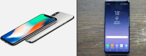 Diferencias y parecidos entre el iPhone X y el Galaxy Note 8