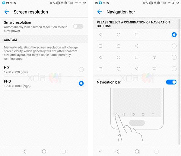 Android 8 en Huawei Mate 9 pantallas