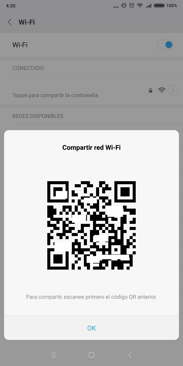 Contraseña de red WiFi Xiaomi