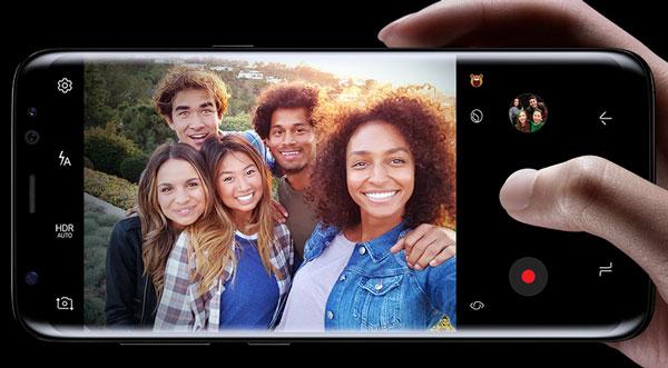 Comparativa Samsung Galaxy A8 2018 vs Samsung Galaxy S8 cámara frontal S8