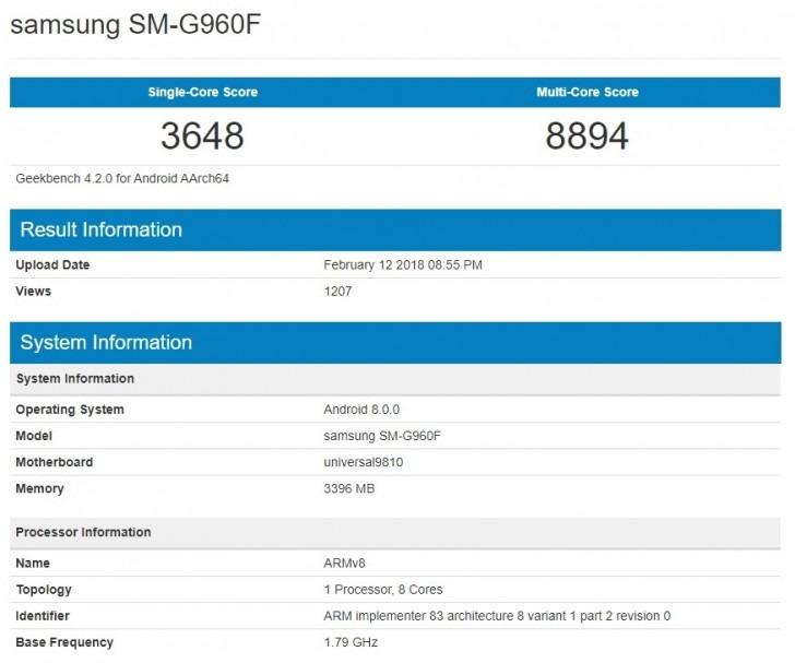 Galaxy S9 procesador Exynos