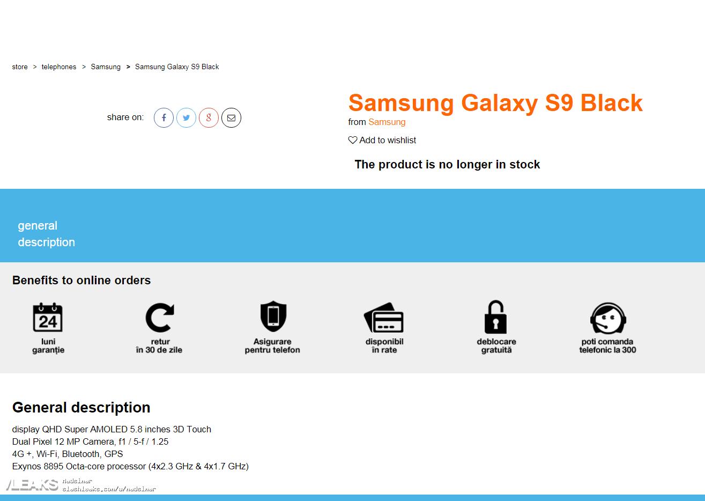 samsung s9 especificaciones