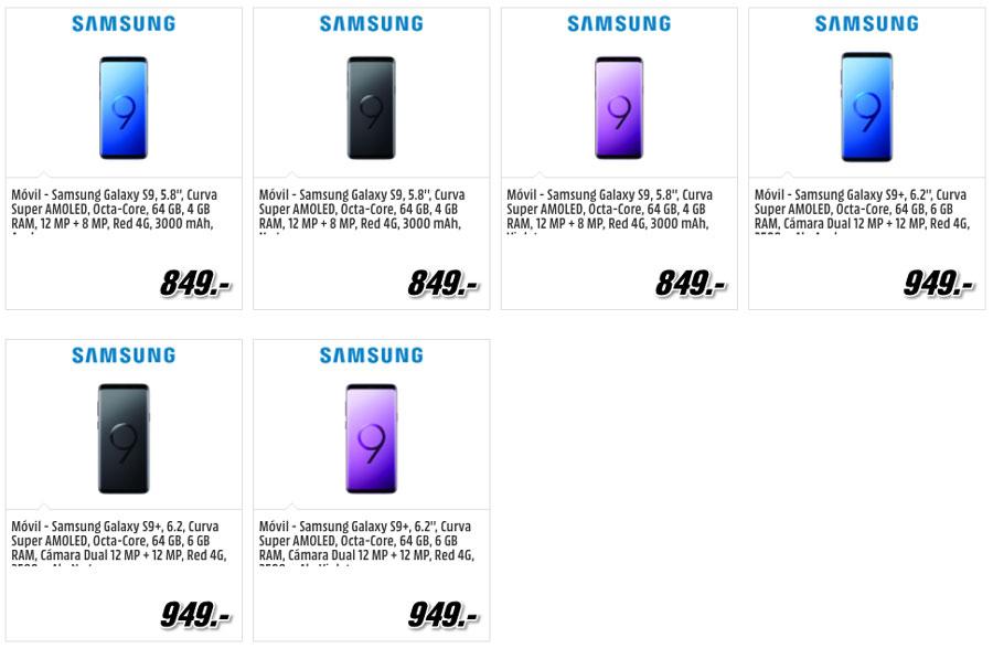 dónde reservar y comprar el Samsung Galaxy S9 media markt