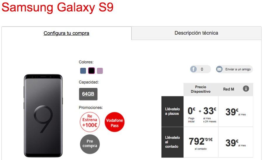 dónde reservar y comprar el Samsung™ Galaxy™ S9 Vodafone