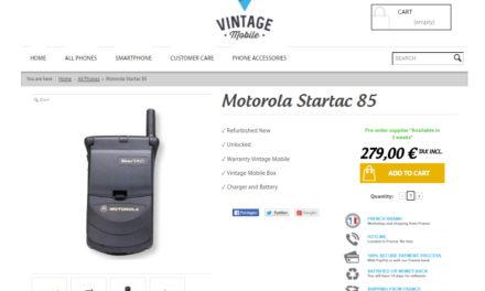 VintageMobile, web para comprar móviles antiguos restaurados