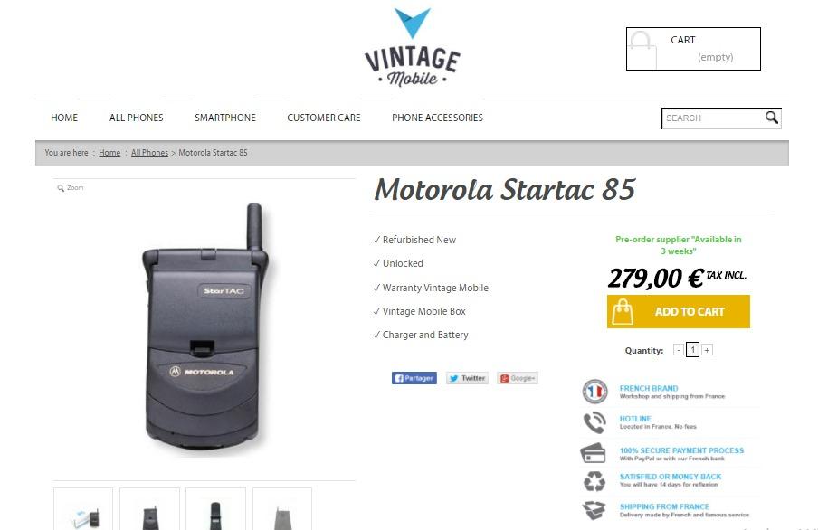 VintageMobile, web para comprar celulares viejos restaurados