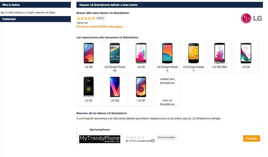308a65d45fe Cuánto cuesta reparar la pantalla de un móvil LG