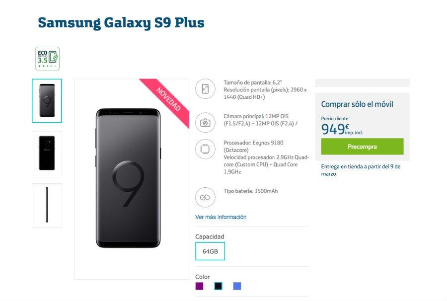 Samsung Galaxy S9+ Movistar