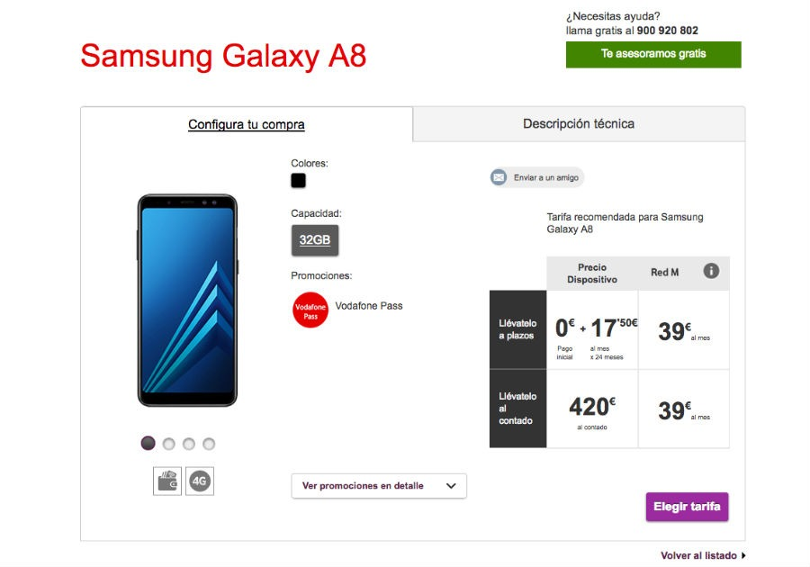 Samsung Galaxy™ A8 Vodafone