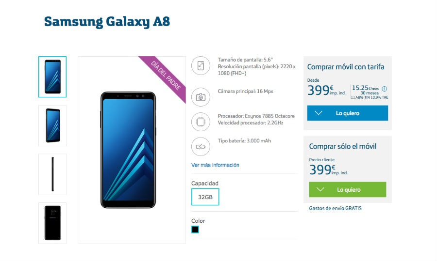 Samsung Galaxy™ A8 Movistar