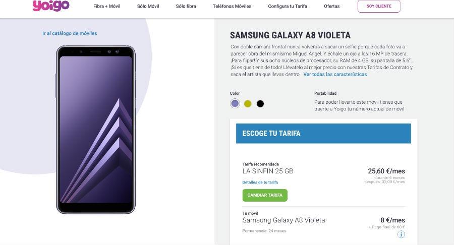Samsung Galaxy™ A8 Yoigo