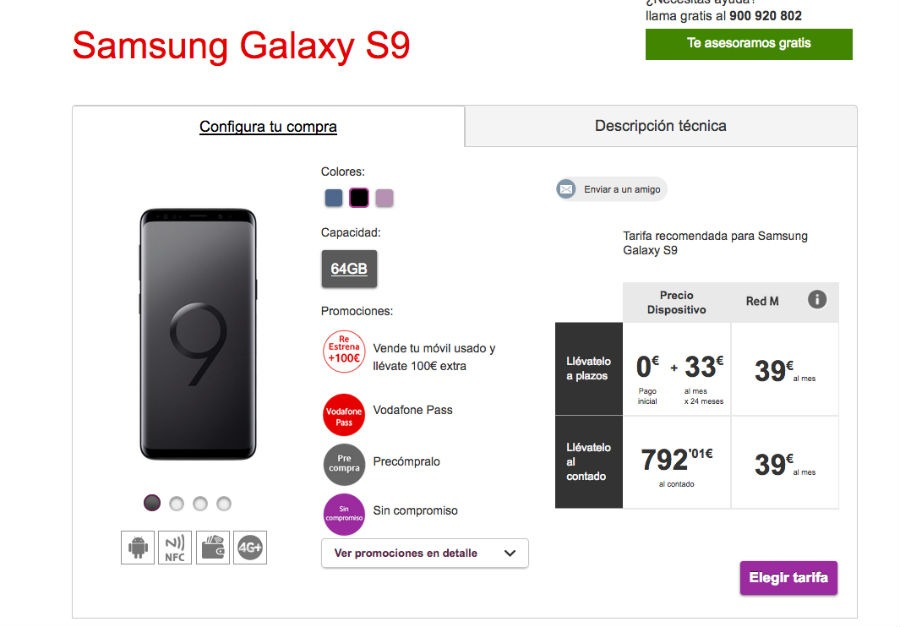 Samsung s9 1 euro movistar