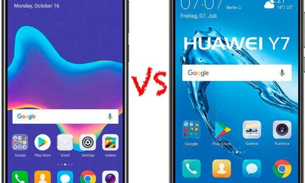 Comparativa Huawei Y9 2018 vs Huawei Y7