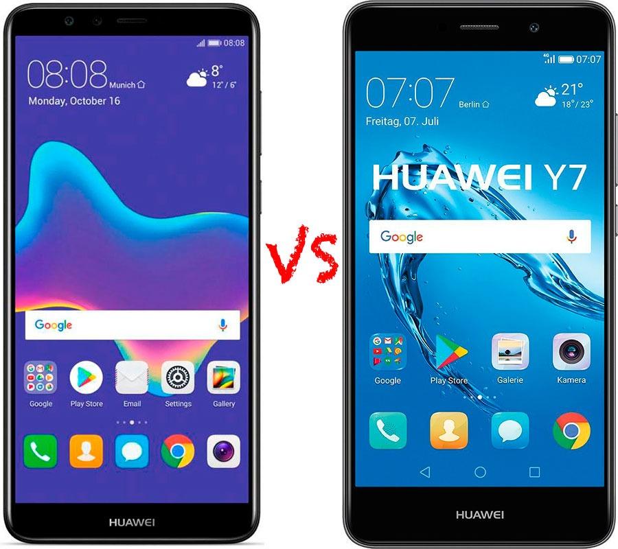 Comparativa Huawei™ Y9 2018 vs Huawei™ Y7