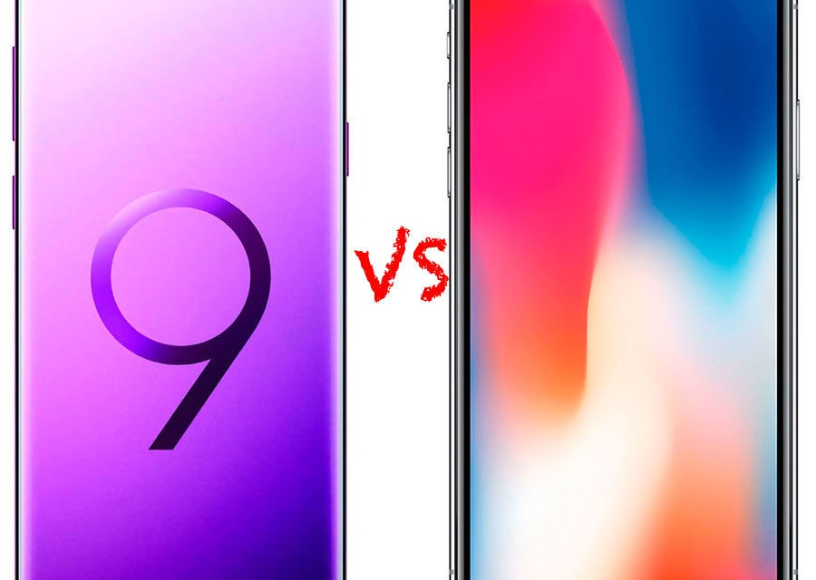 Comparativa Samsung Galaxy S9+ vs iPhone X
