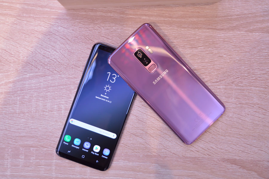 comparativa Samsung Galaxy S9+ vs iPhone X parte trasera S9+