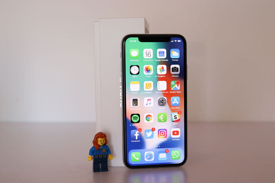 comparativa Samsung Galaxy S9+ vs iPhone X final iPhone X
