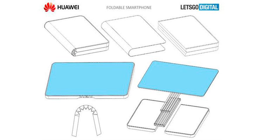 posible móvil plegable Huawei patente