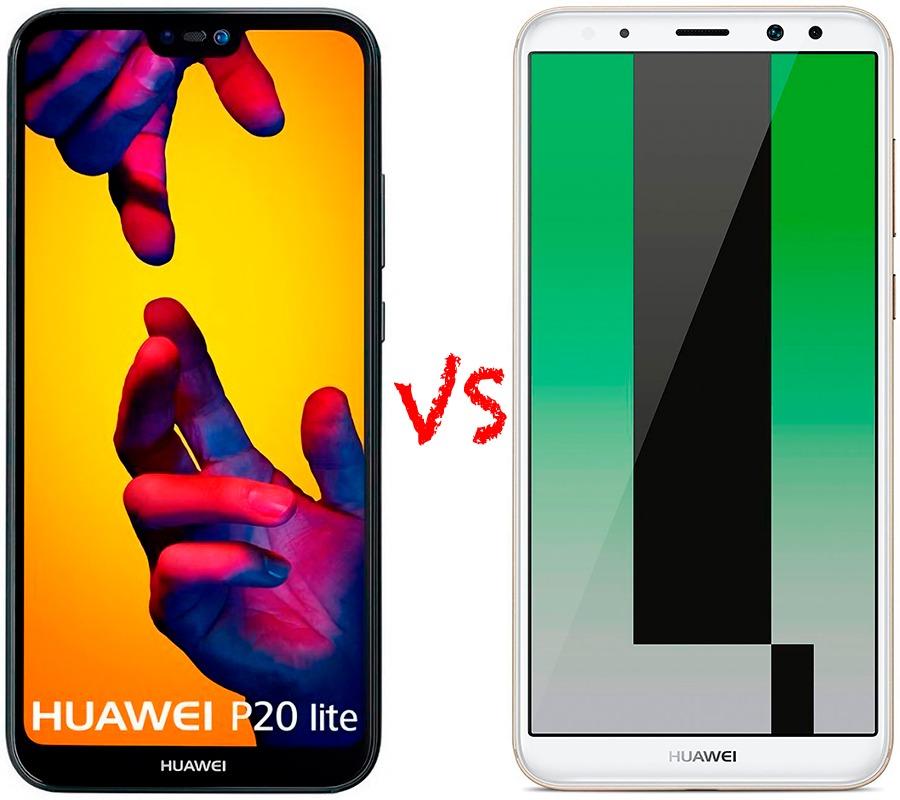 Comparativa Huawei™ P20 Lite vs Huawei™ Mate diez Lite