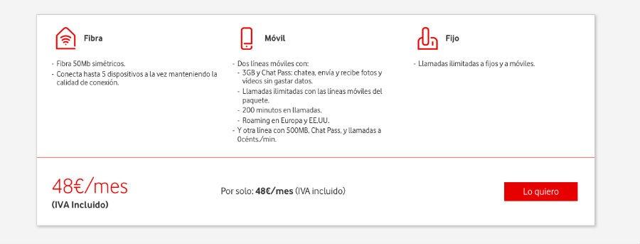 Vodafone One Light