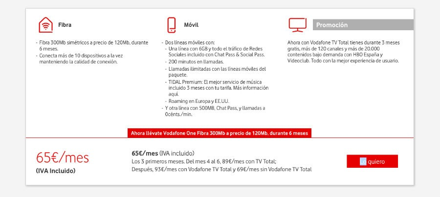 Vodafone One S